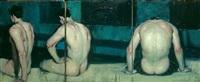 turned away [triptych] by malcolm liepke